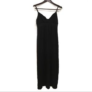 VICTORIA'S SECRET BLACK MAXI STRAP COVERUP DRESS